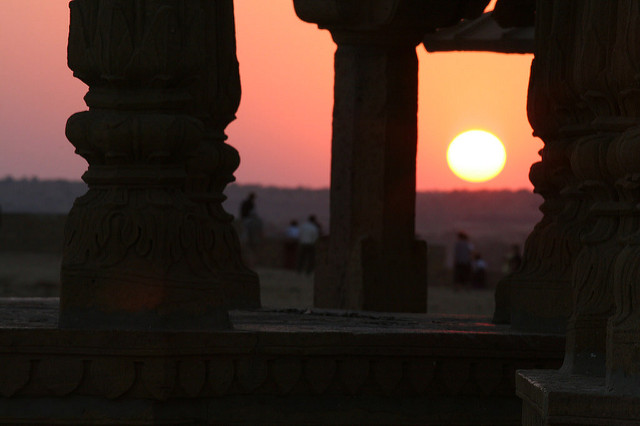 Cenotaph of Sage Vyas who wrote Mahabharata in Jaisalmer