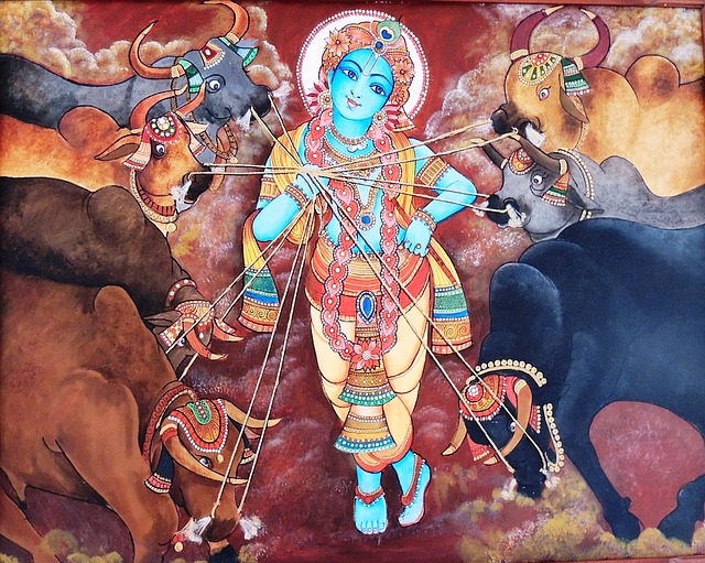 Depiction of God Krishna-historical mahabharata