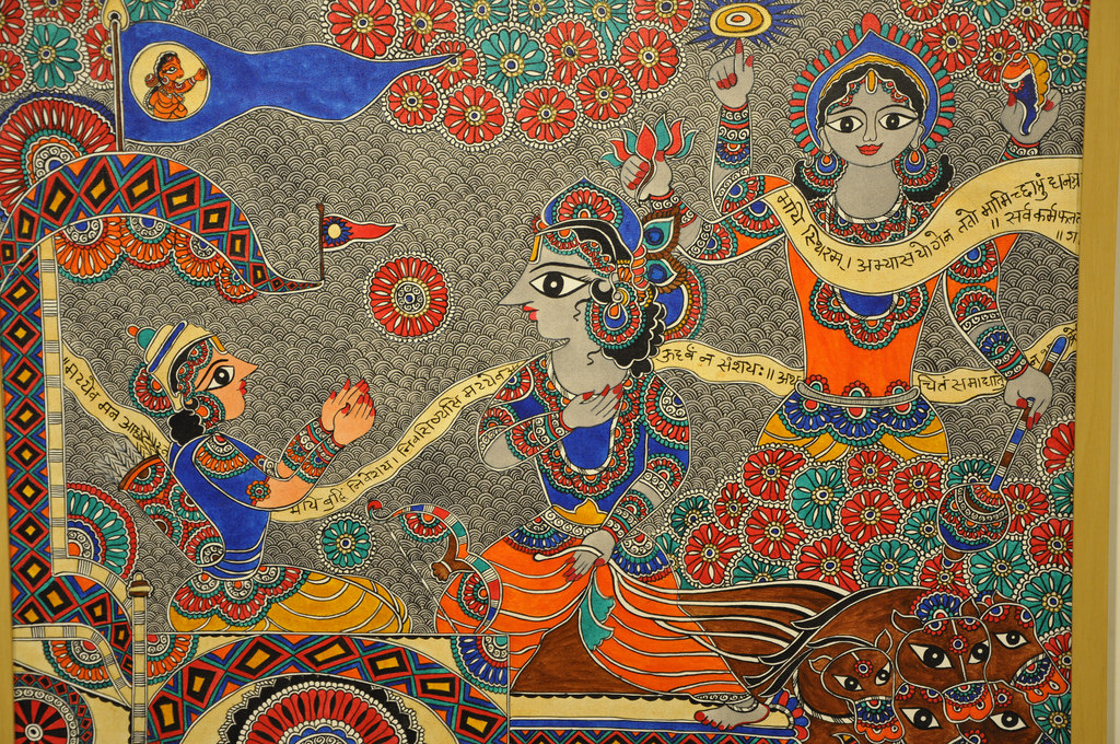 God Krishna showing his divine appearance-Did Mahabharata really happen