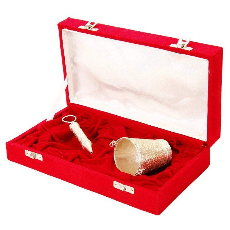 Holi Special Silver Pichkari with Bucket Gift Hamper