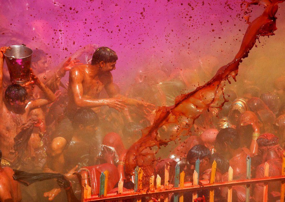 Holi celebration with full energy and vigor