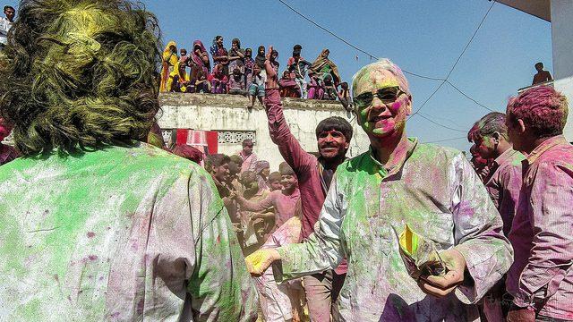 Holi is mostly a group celebration