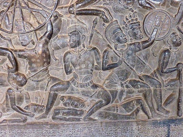 Mahabharata Warriors at Angkor Wat