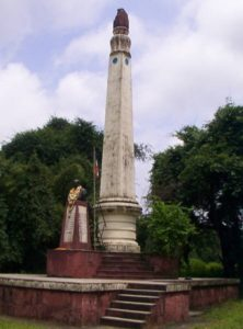 Memorial pillar at Koregaon-Bhima to honour the soldiers