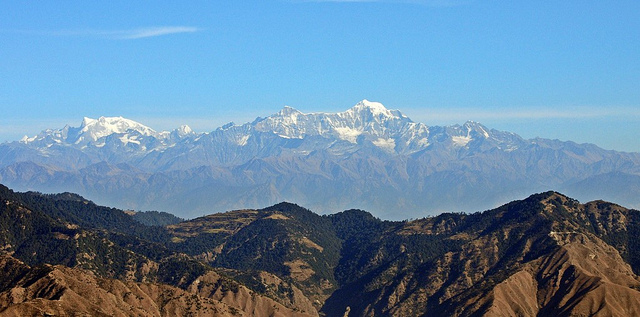 Nanda Devi view from Mukteshwar