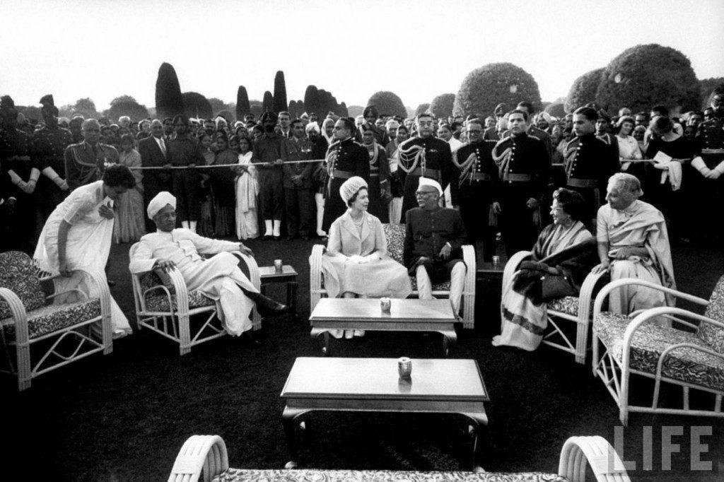 Queen Elizabeth with President Rajendra Prasad