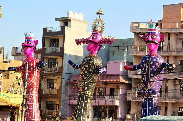 Celebrates annihilation of Ravana by Lord Ram