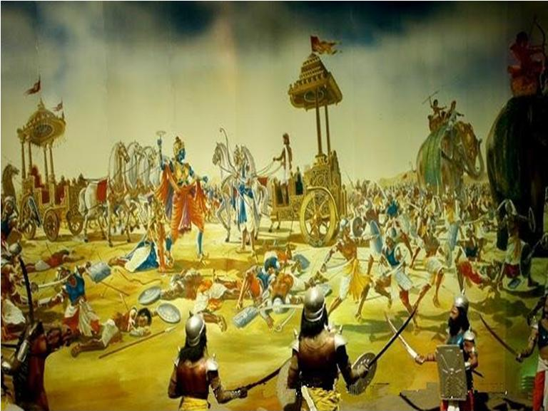 Image CreChakravyuh Mahbharata-Abhimanyu was killed by Duryodhan