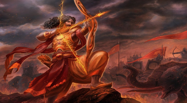 It was a Brahmanas curse that killed Karna