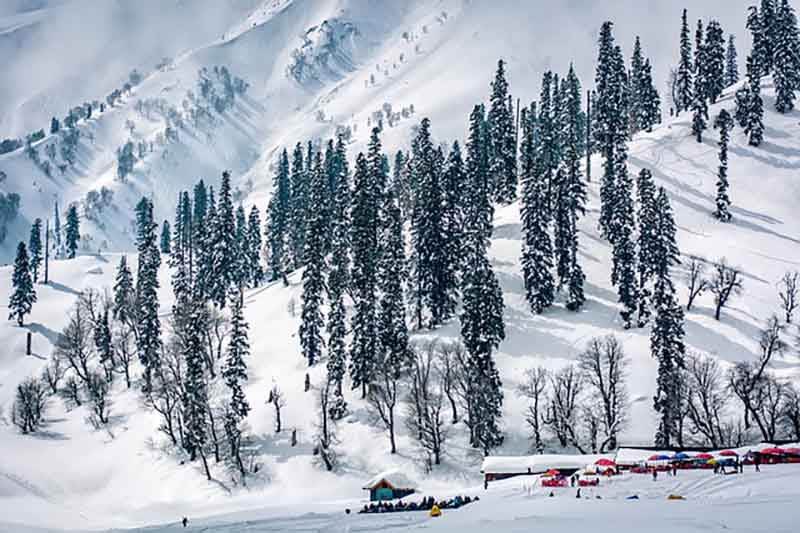 View from Gondola in Gulmarg