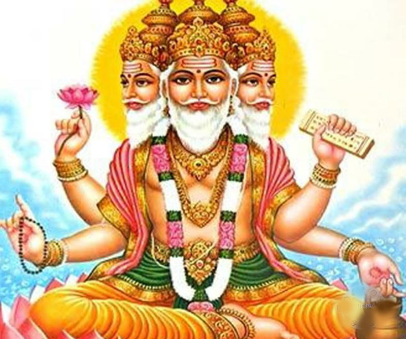 Brahma as depicted in Hinduism