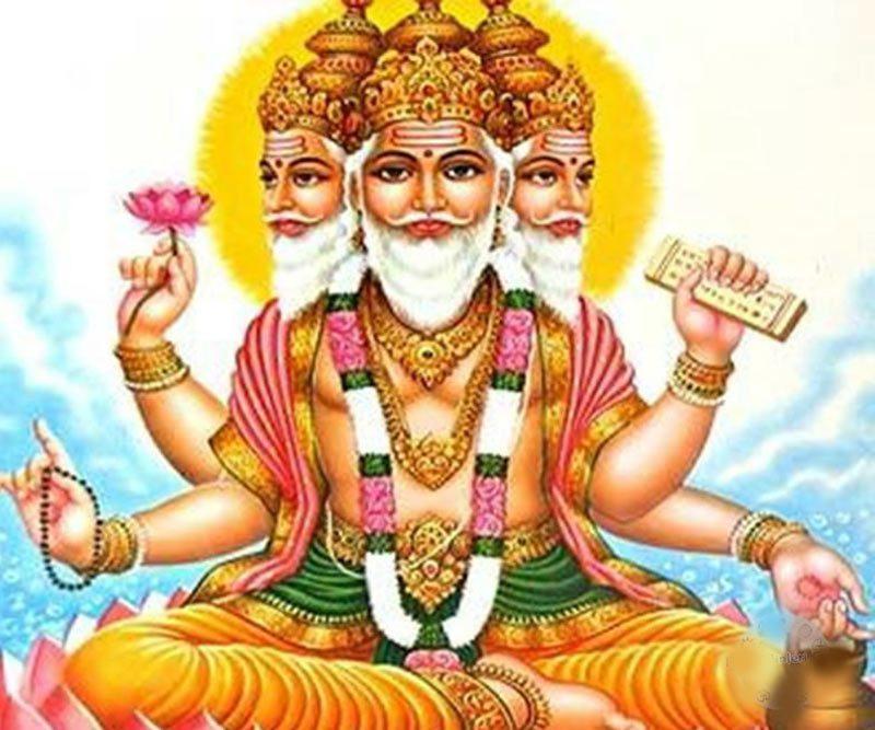 Brahma as depicted in Hinduism