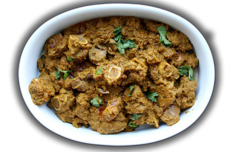 Sindhi cardamom lamb is also called Sindhi Seyal Gosht