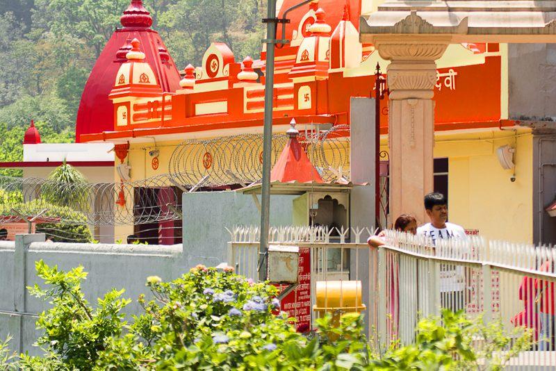 Entry gate to Neem Karoli Baba ashram in Kainchi Dham
