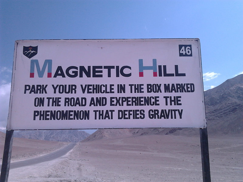 Magnetic Hill mysterious places in India that you didn't know exist
