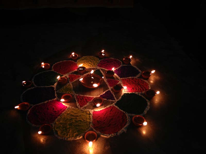 Rangoli Diwali-how is diwali celebrated