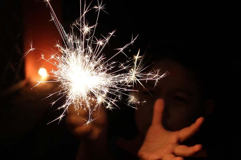 people burn crackers on Diwali