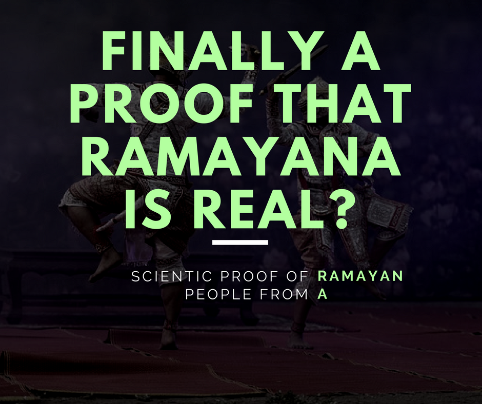 Proof That Ramayana Happened For Real