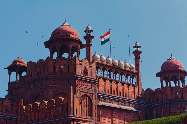Flag hoisting at Lal Qila
