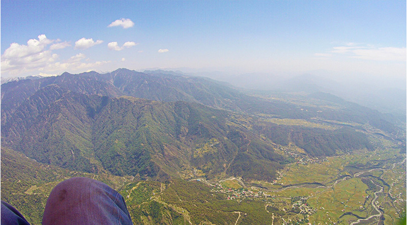 Paragliding in Palampur in Kangra Valley