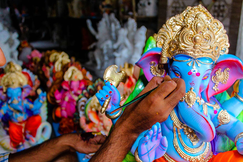 Lord Ganesha Idol by local artisan