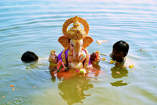 WHY ARE THE GANESHA STATUES IMMERSED IN WATER AT THE END OF GANESHA CHATURTHI