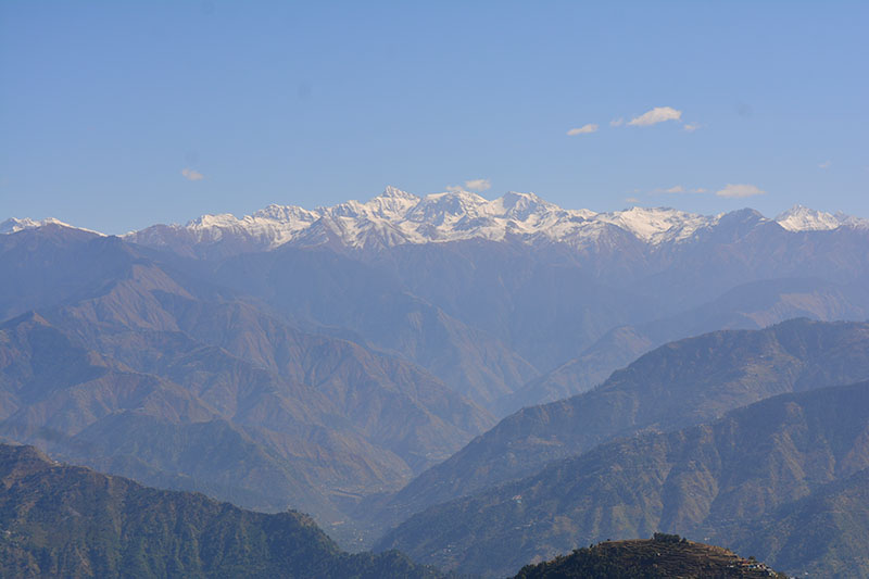 View of Dauladhar Range from Kalatop Forest Resthouse