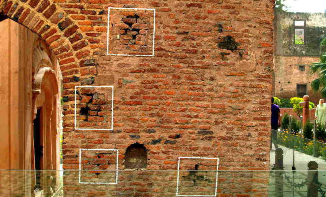 Wall ridden with bulltets in jallianwala Bagh