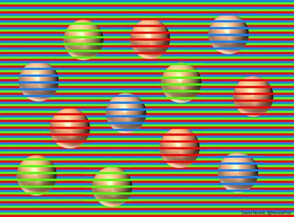 Balls In This Optical Illusion