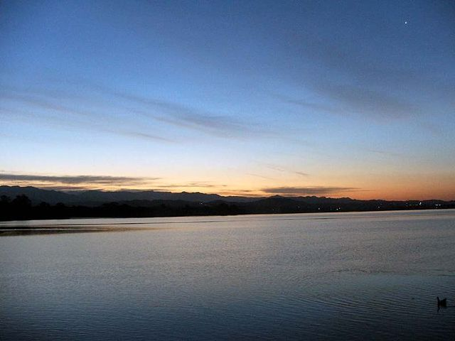 Watch the sunset at the serene Sukhna Lake in Chandigarh