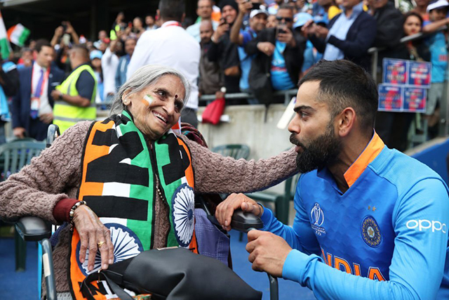 87-year old fan Charulata Patel