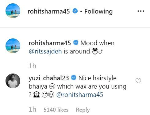 Chahal had earlier trolled Rohit Sharma