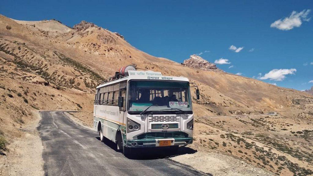 Manali Leh Bus Service