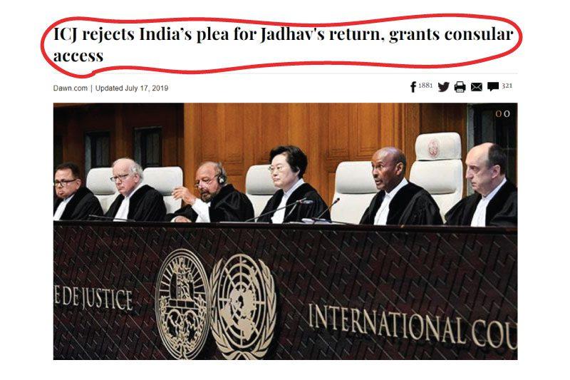 Pakistani Media vs Indian Media on Kulbhusahn Jadav case judgment