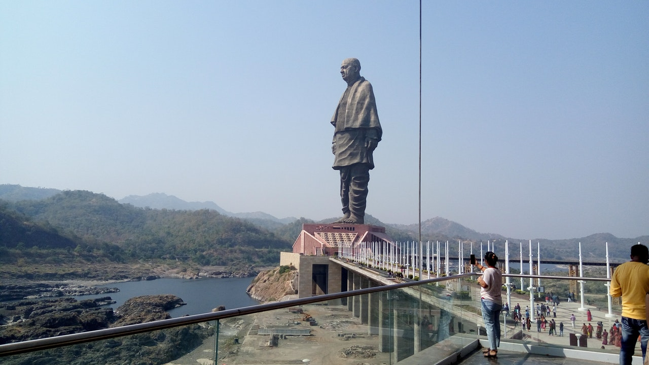 Statue of Unity Gets Flooded