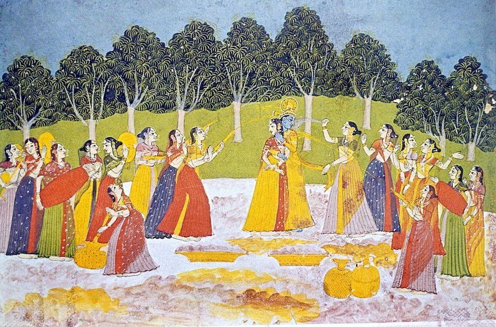 Lord Krishna Association with Holi