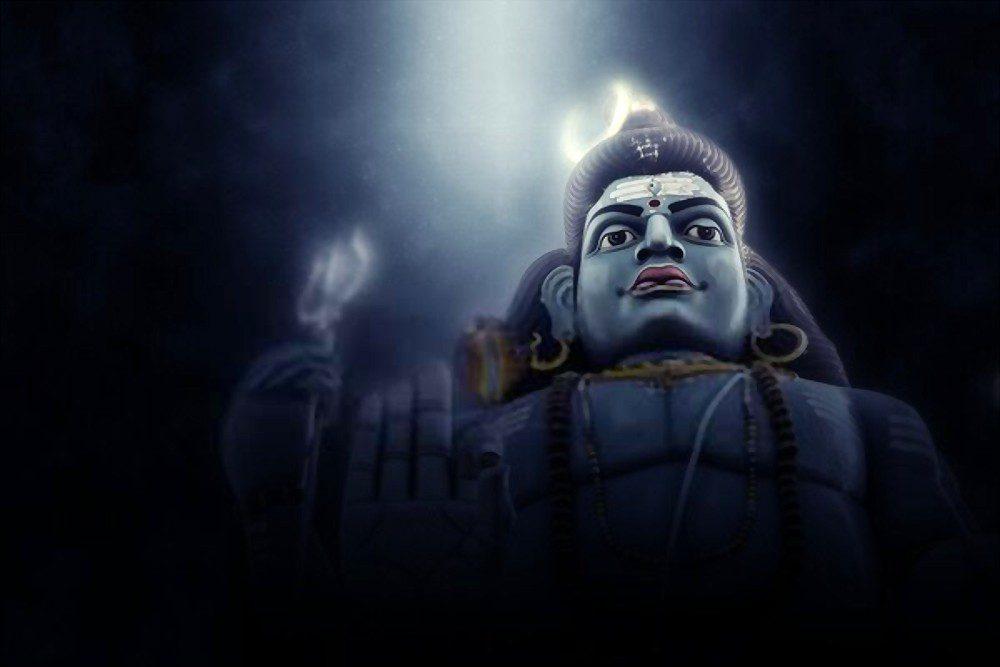 The Moon on Lord Shiva's head