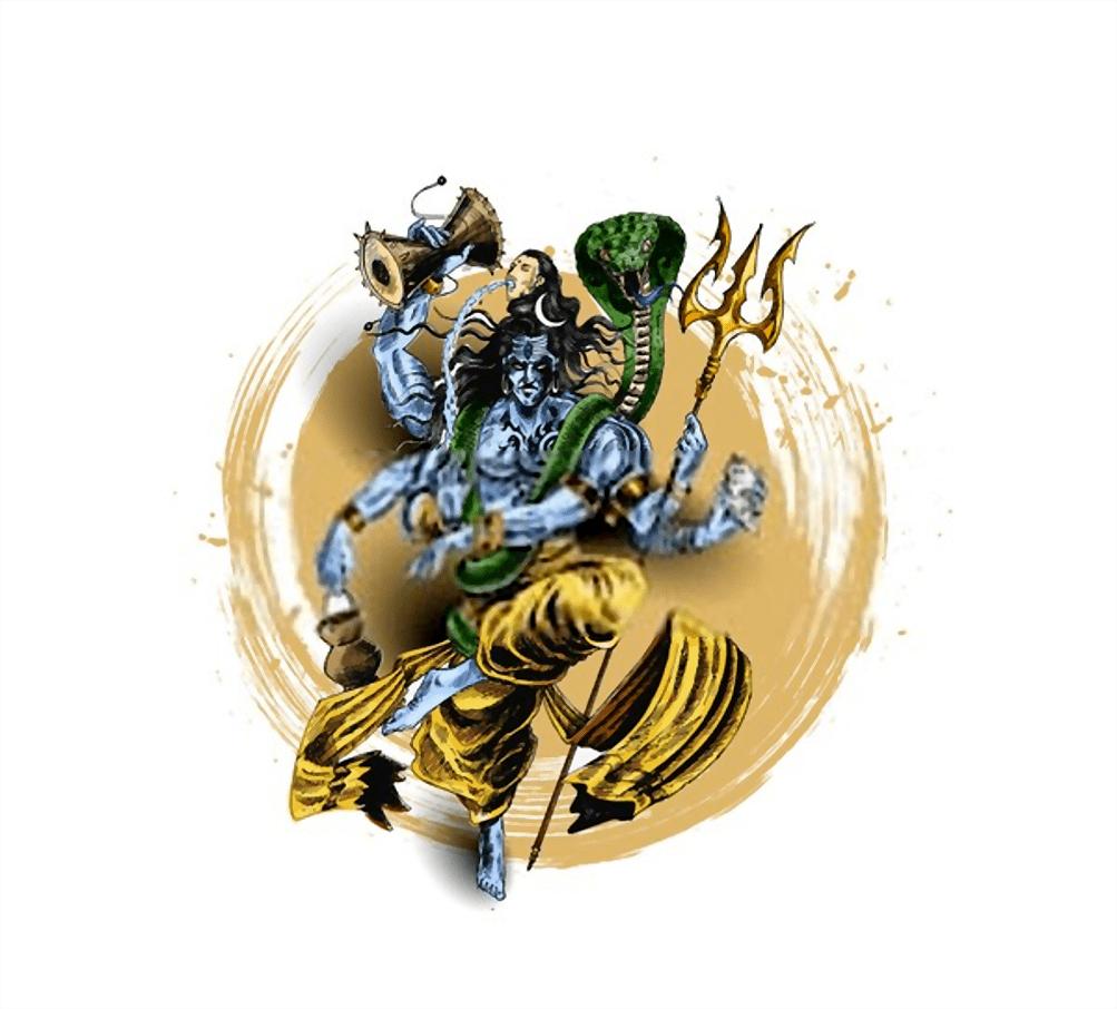 The snake around Lord Shiva's neck, Vasuki