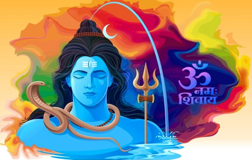 The story of  river Ganga flowing from Shiva's head