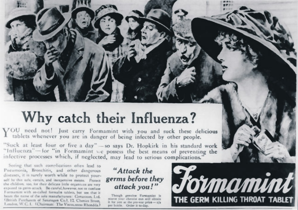 Newspaper clipping during Spanish Flu