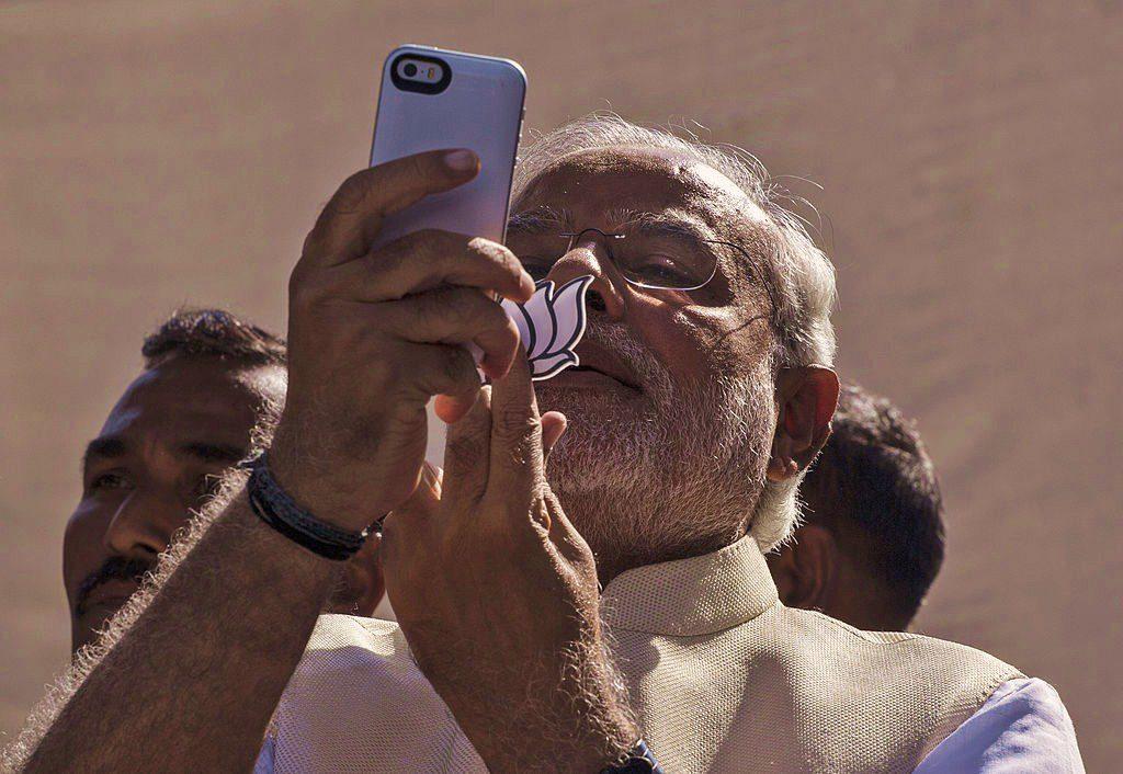 Sorry PM Modi isn't Going to Giving Away his Social Media Accounts