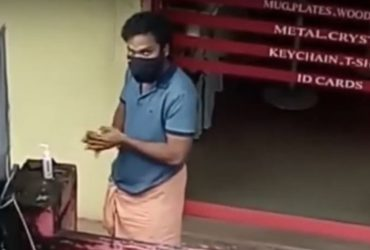 Man Returns Sanitizer After He Realizes He's Been Caught On Camera