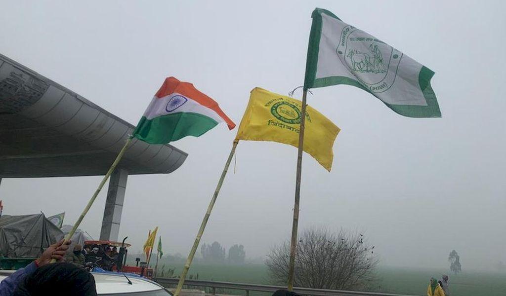 Farmer protest flags