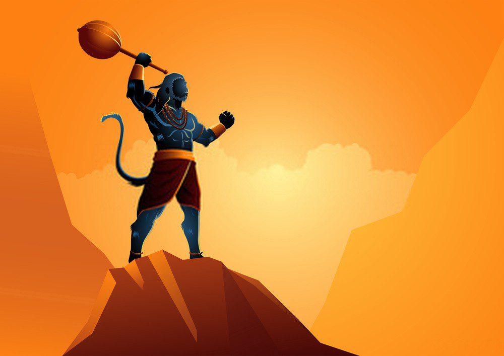 Hanuman covered himself with sindoor to keep Lord Rama safe thus the name Bajrangi