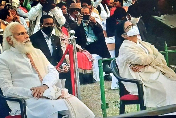 """""""Picture of the Day,"""" People are Calling Mamata and Modi Sitting Together as One"""