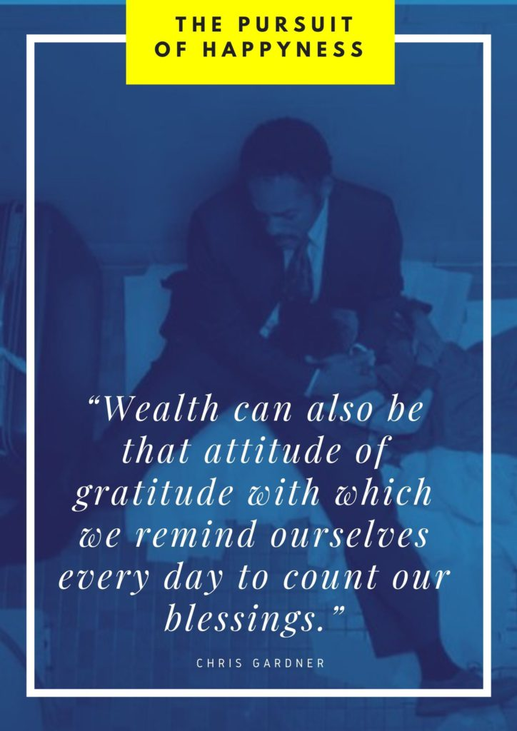 Attitude of gratitude quote from the Pursuit of Happyness