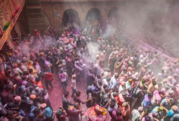Bankey Bihari Temple Holi Celebration