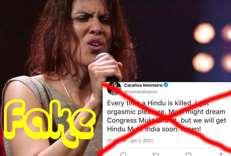 Fact Check-Caralis Monteiro did Not Tweet Anti-Hindu, Hindu Mukt Bharat Statement