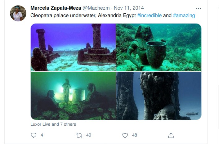 Original Tweet from where the picture of ancient Dwarka has been picked up