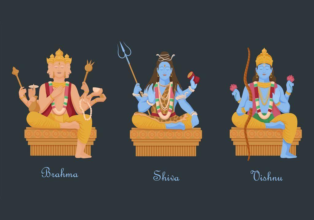 Trinity Gods Hinduism